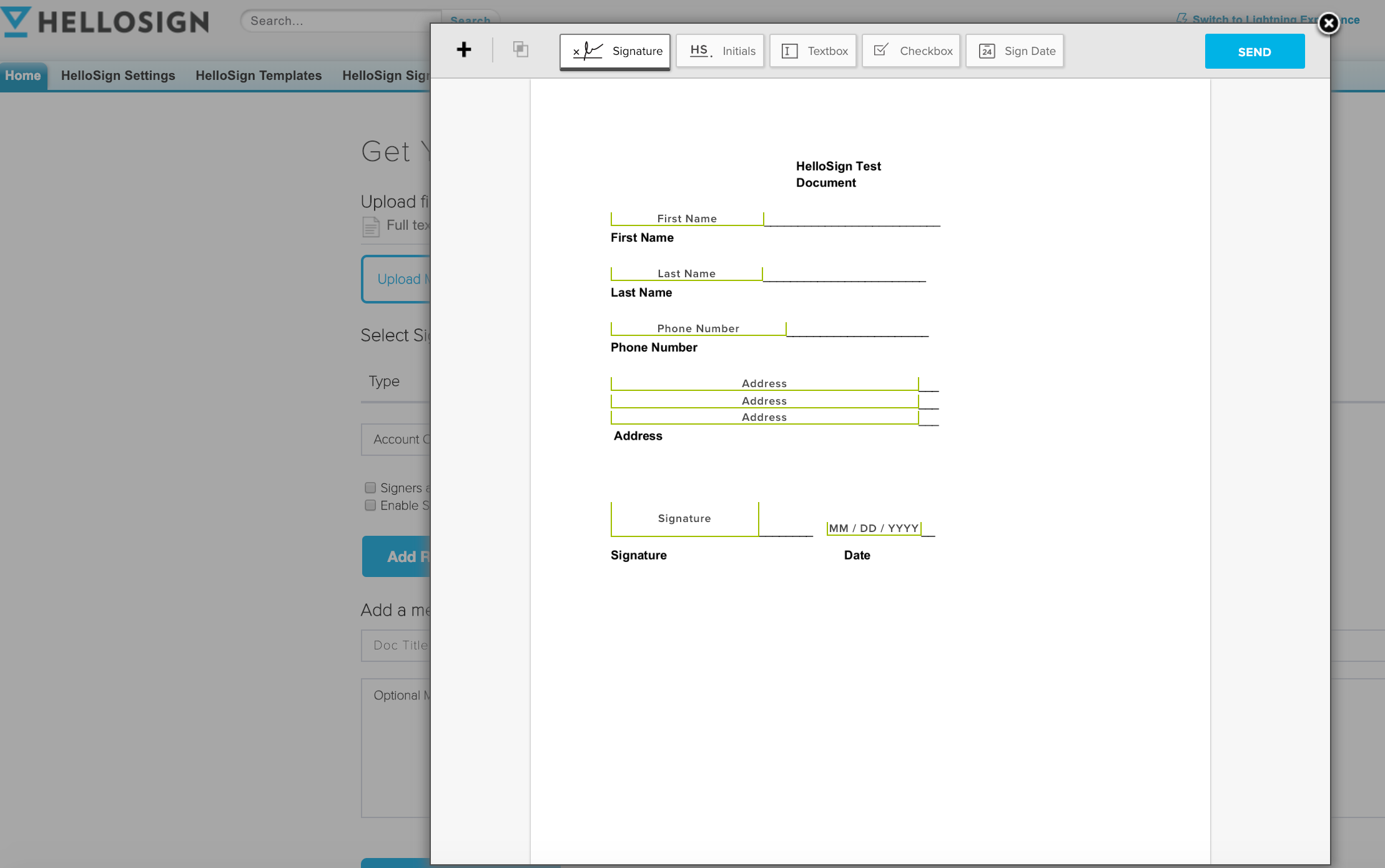 How to use Hellosign Text Tags in Salesforce – Help Center
